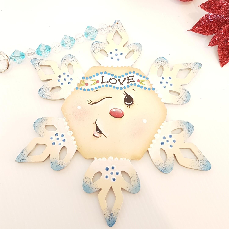 Love Snowflake Ornament