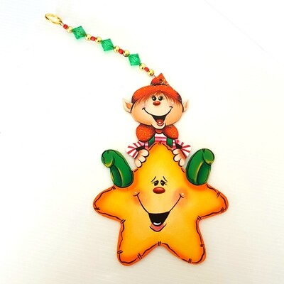 Merry Christmas Elf Ornament