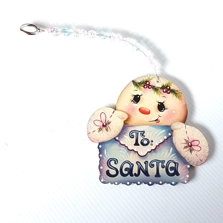To Santa Snowman Christmas Ornament