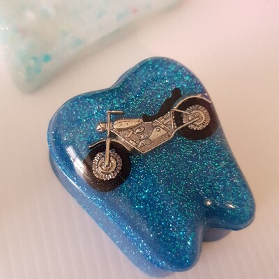 Blue Motor Bike Tooth Fairy Box