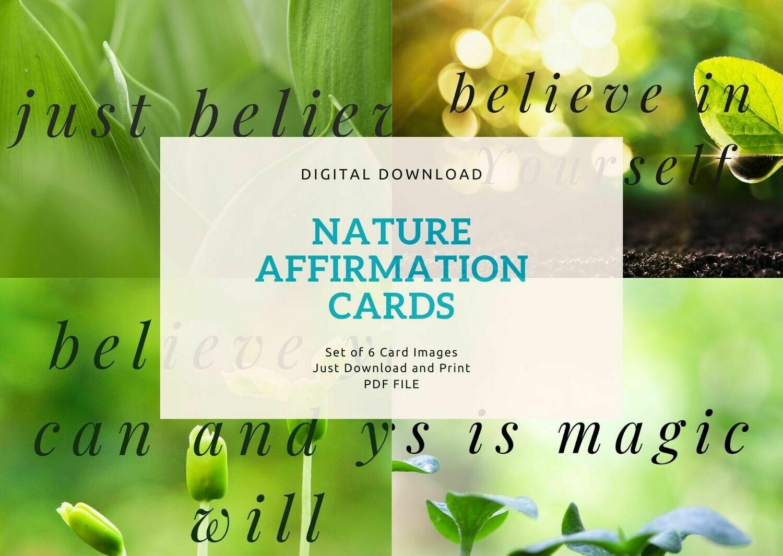 Believe Nature Affirmation Cards - Digital Download