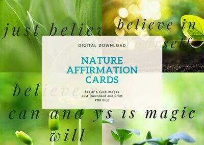 Believe Nature Affirmation Cards - Digital Download