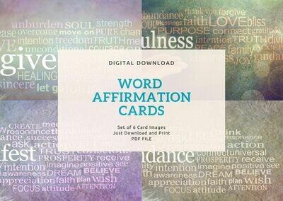 Word Affirmation Cards - Digital Download