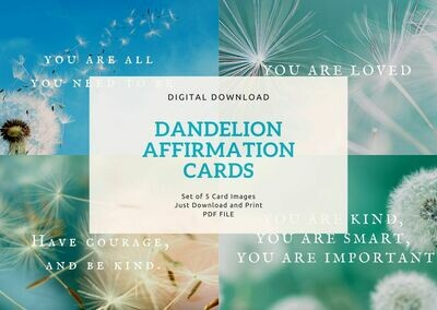 Dandelion Affirmation Cards - Digital Download