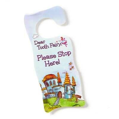 Tooth Fairy Door Hanger - Fairyland Blue