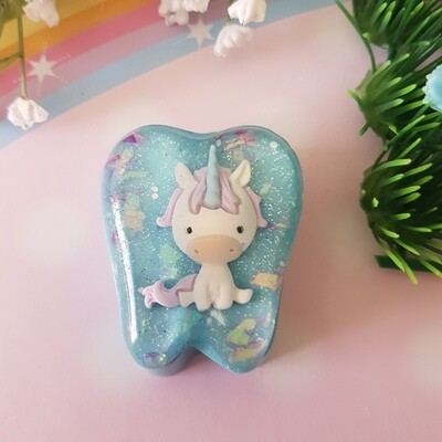 Blue Unicorn Tooth Fairy Box
