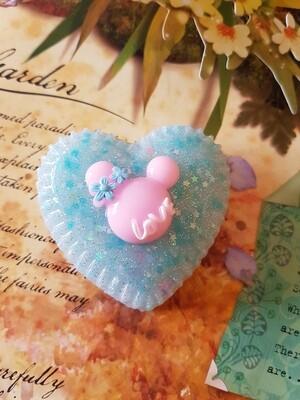 Jewellery Box - Love Mouse Ears Heart- Blue Ice
