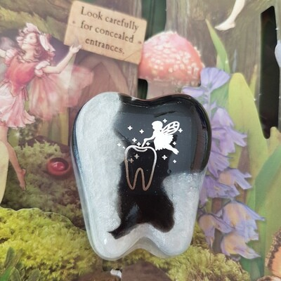 Silver and Black Tooth Fairy Box