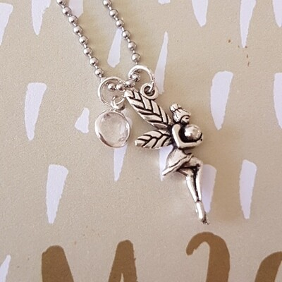 Clear Tooth Fairy Necklace