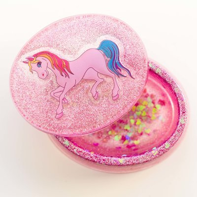 Oval Jewellery Box - Unicorn Pink