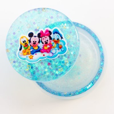Jewellery Box Round- Disney Blue