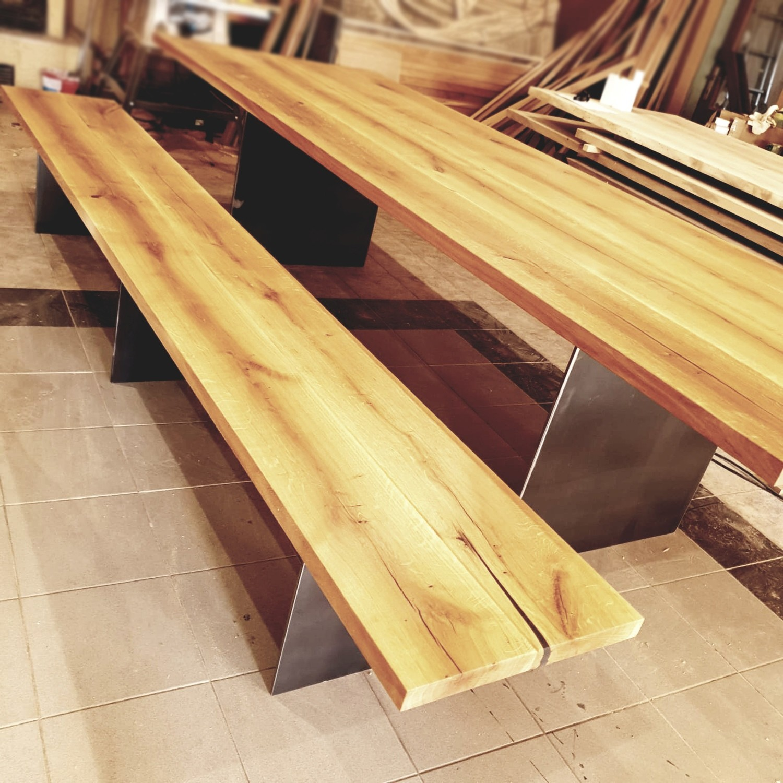 Design Bank NICE aus Massivholz