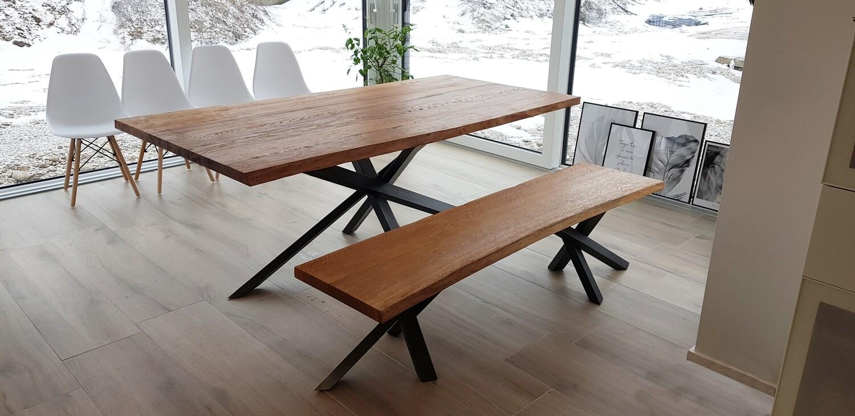 Design Esstisch CLAUDIA aus Massivholz