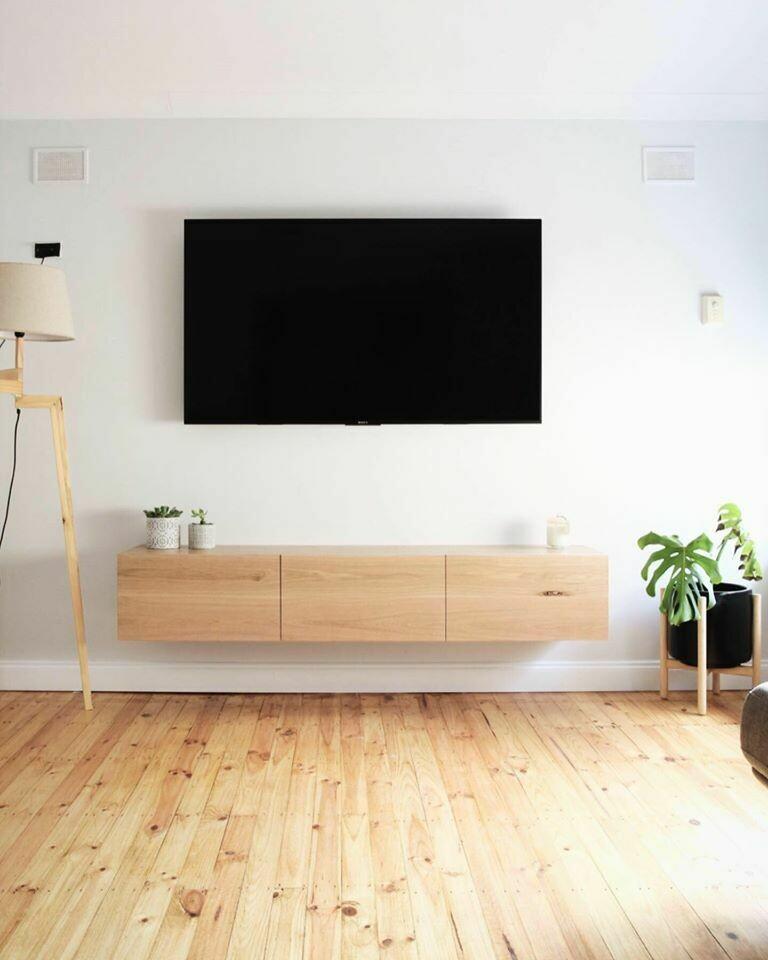 TV Lowboard Hängeboard BRUNO aus Eiche massiv