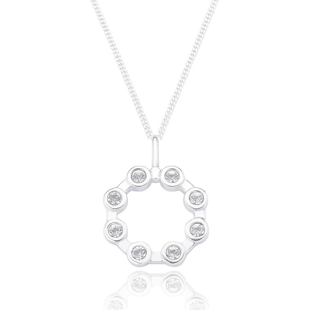 Contemporary Open Circle With Chain