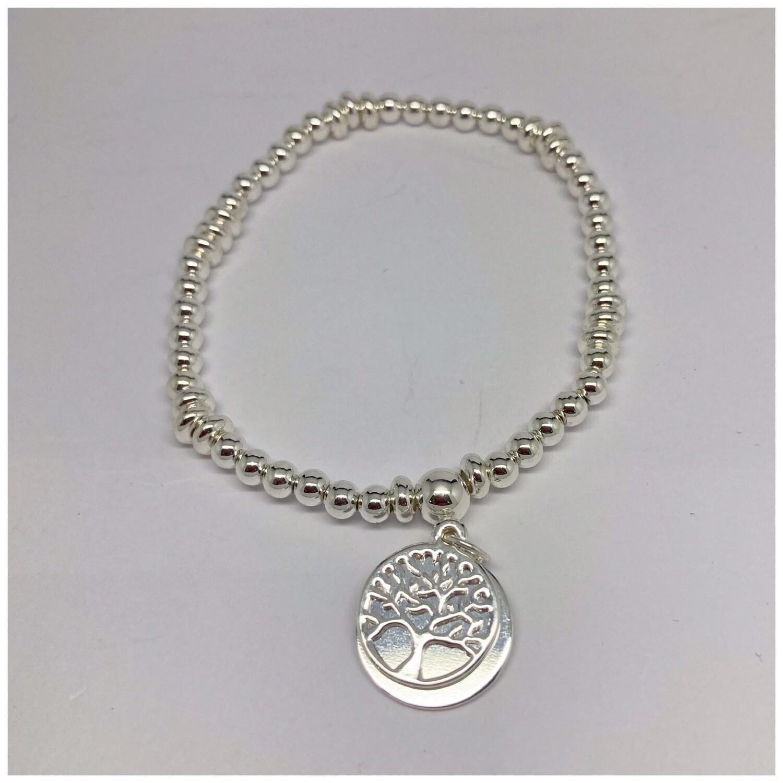 Tree Of Life Bracelet - Disc (silver)