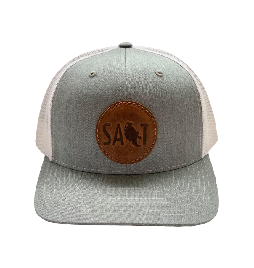 Leather Patch Salt Hat