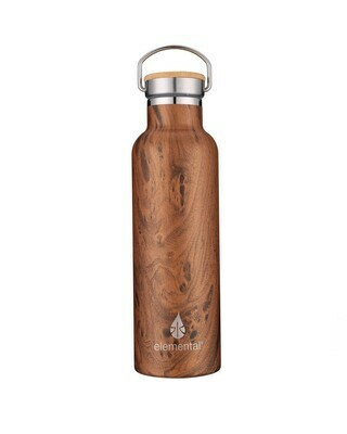 Stainless Classic Water Bottle - Teak Wood 25 oz