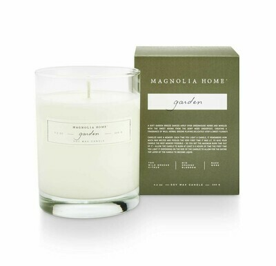 Garden Boxed Glass Candle