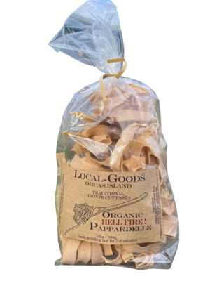Spicy Orcas Island Pappardelle Pasta