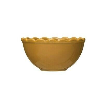 Scalloped Mustard Bowl