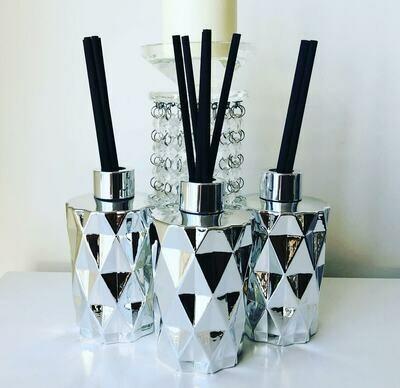 Diamond Reed Diffuser - Silver