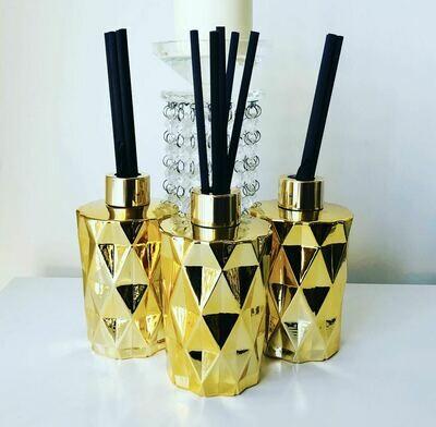 Diamond Reed Diffuser - Gold
