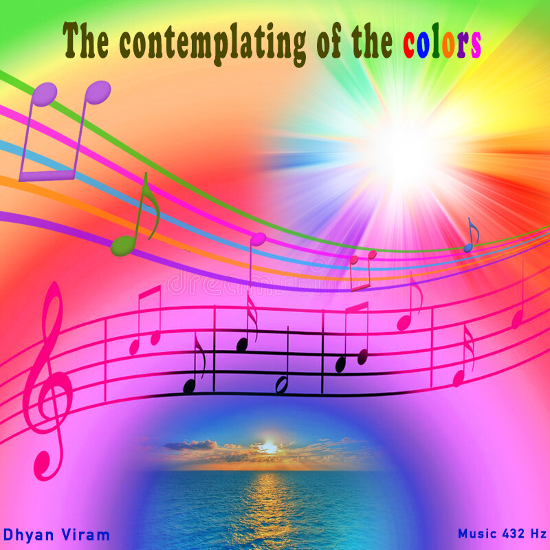 The contemplating of the colors