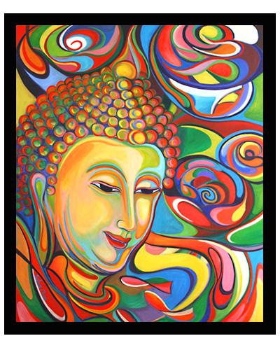 Rhythm of Divine - Oil on Canvas 1m x 1.2m