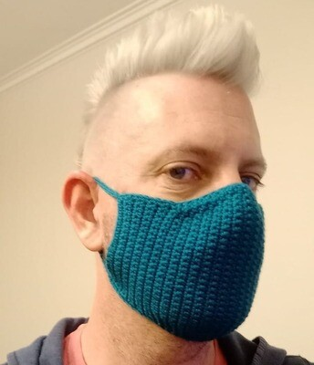 Covid Face Mask - Crocheted Cotton