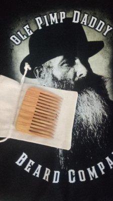 Ole Pimp Daddy Beard Company Sleek Pocket Beard Comb