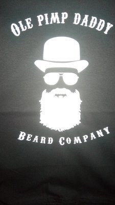 Ole Pimp Daddy Beard Company Hat, Glasses, Beard Silhouette T-Shirt