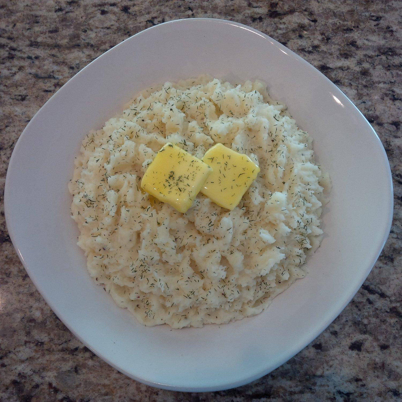 Garlic Dill Mashed Potatoes