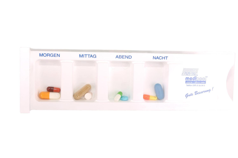 Tablettendispenser befüllt