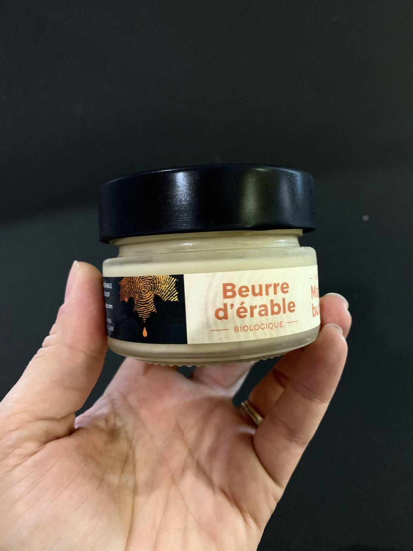 Beurre d'érable biologique 106ml pot en verre