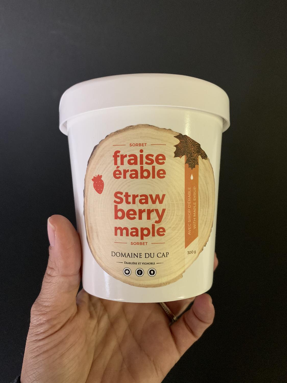 Sorbet fraise érable 300g - sans gras sans lactose