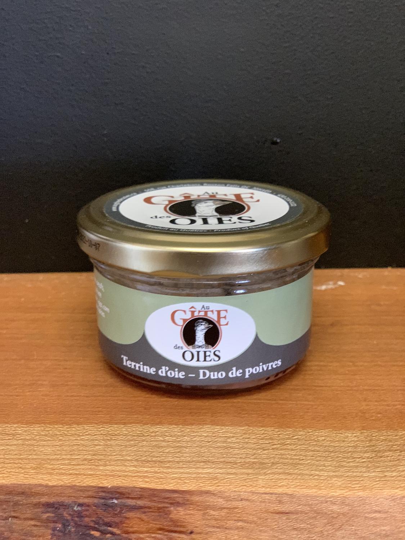 Terrine d'oie - Duo de poivres