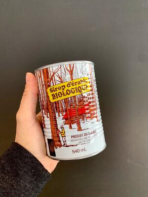 Sirop d'érable biologique - canne 540ml