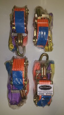 4 x Recovery ratchet straps and chokers sys2000