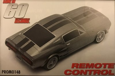 Ford Mustang Eleanor remote 1:8 scale remote control car. GONE IN 60 SECONDS