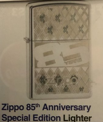 Zippo 85th Anniversarybspecial edition lighter. Just Arrived