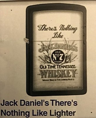 Zippos Jack Danials theres nothing like lighter ( Just arrived )