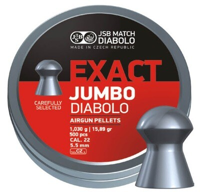 JSB Exact Jumbo Diablo .22 Airgun Pellets Tin x 500 (5.52)