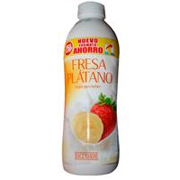 Drinking yoghurt, strawberry and banana