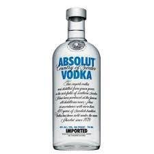 VODKA, ABSOLUT, BOTELLA 700 CC