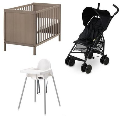 Babypack (Trolley, highchair, cot) 1-2 week rental