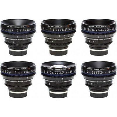 Zeiss 6 Lens Kit PL Mount