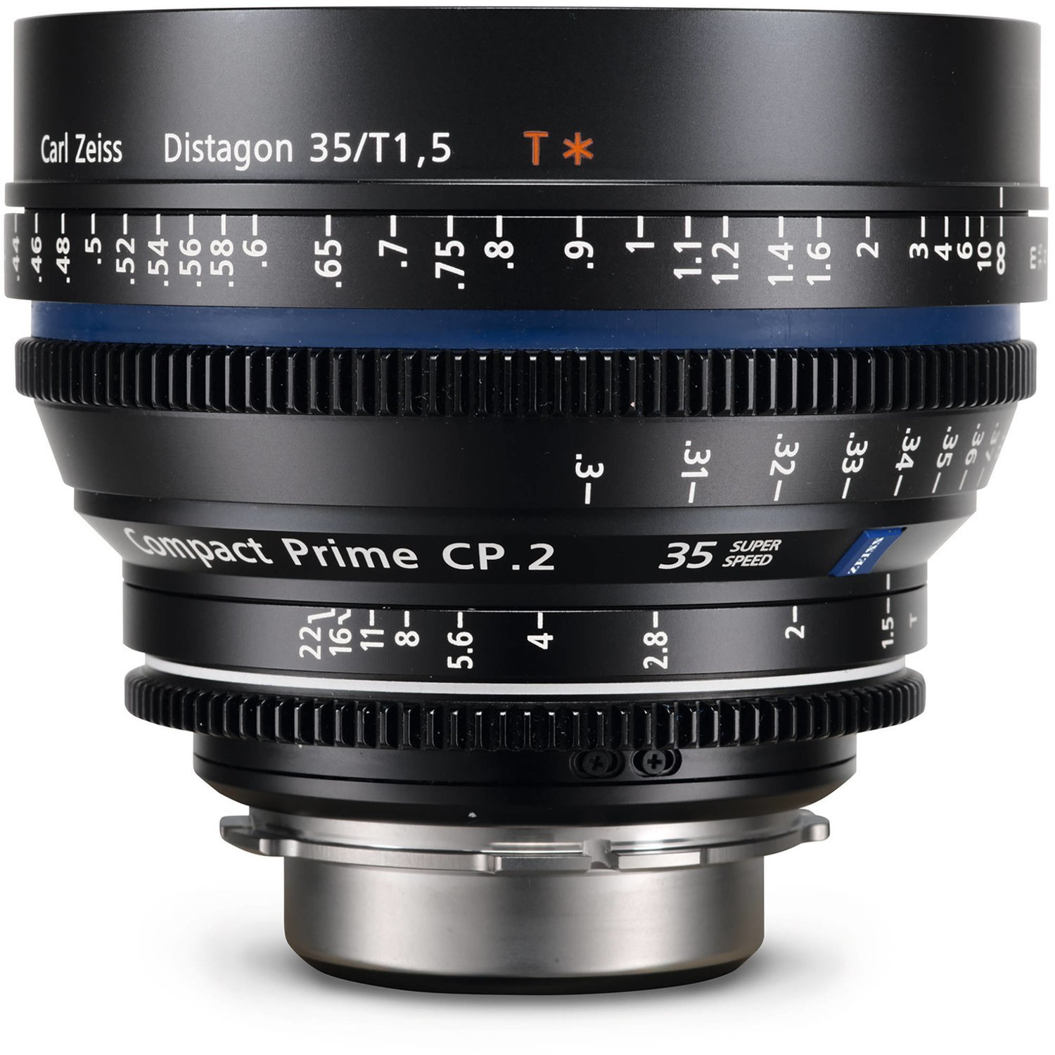 Zeiss Compact Prime CP.2 Canon EF Mount 35mm T1.5 (Feet) Super Speed