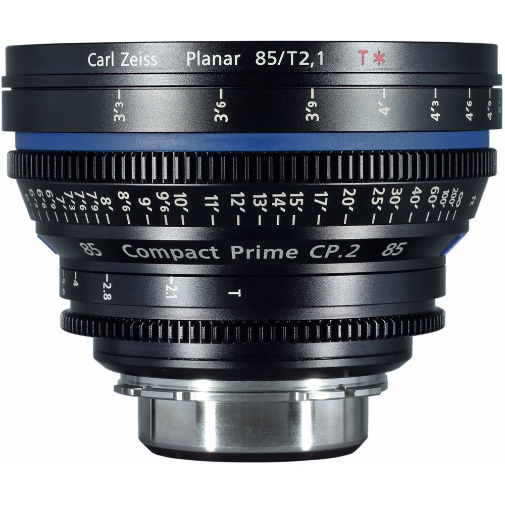 Zeiss Compact Prime CP.2 Canon EF Mount 85mm T1.5 (Feet) Super Speed