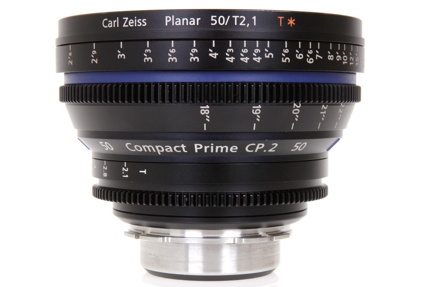 Zeiss Compact Prime CP.2 PL Mount 50mm T1.5 (Feet) Super Speed